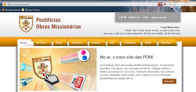 No ar, o novo site das Pontifícias Obras Missionárias