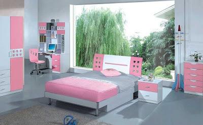 Pembe+gri+kalpli+gen%25C3%25A7+odas%25C4%25B1+modelleri Pembe Kız Genç ve Çocuk Odası Modelleri