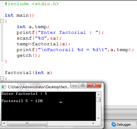 Recursion จงเขียน factorial แบบ recursive