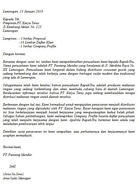 Contoh Surat Penawaran Barangjasa Cara Buat Surat