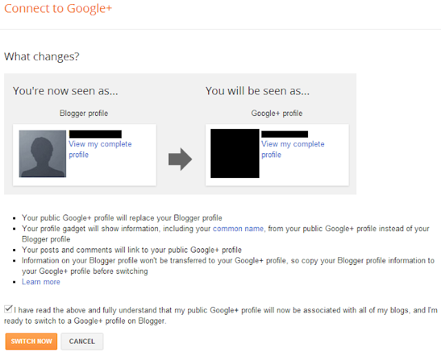 connect with google+ blogger