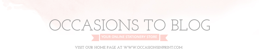 Occasions to Blog