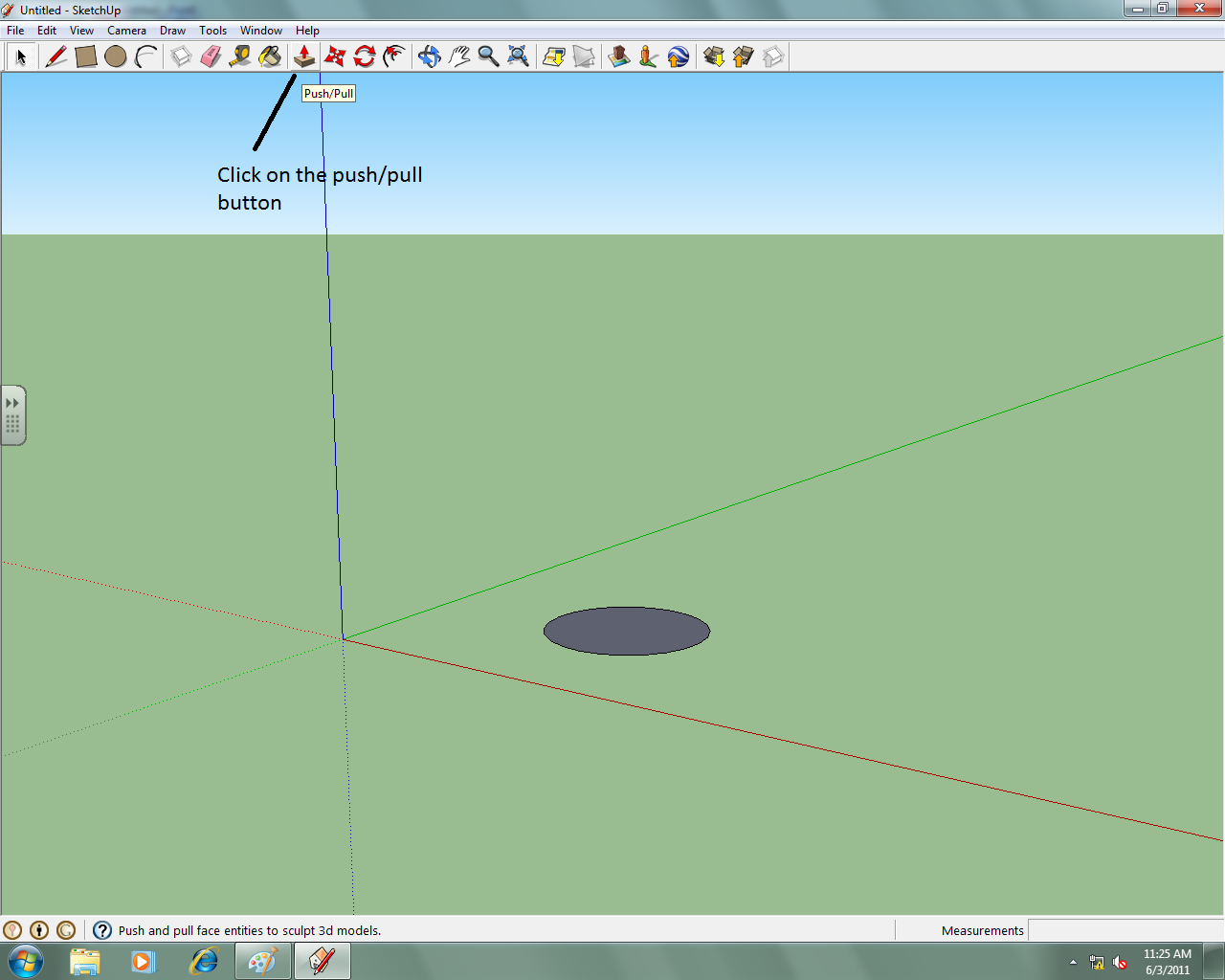 how to draw a cone in sketchup