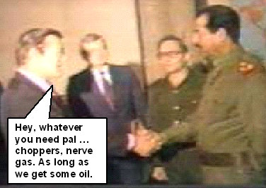 rumsfeld shaking hands with saddam