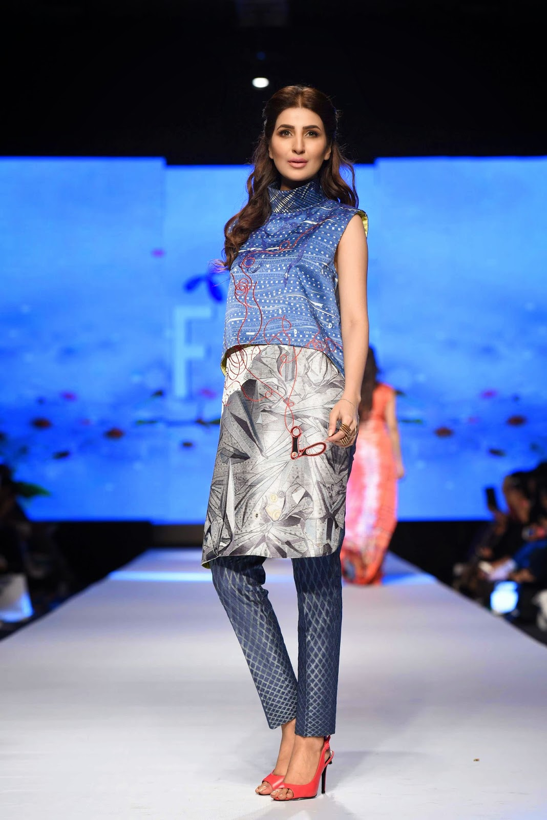 geometric printed pants sania maskatiya TFPW15