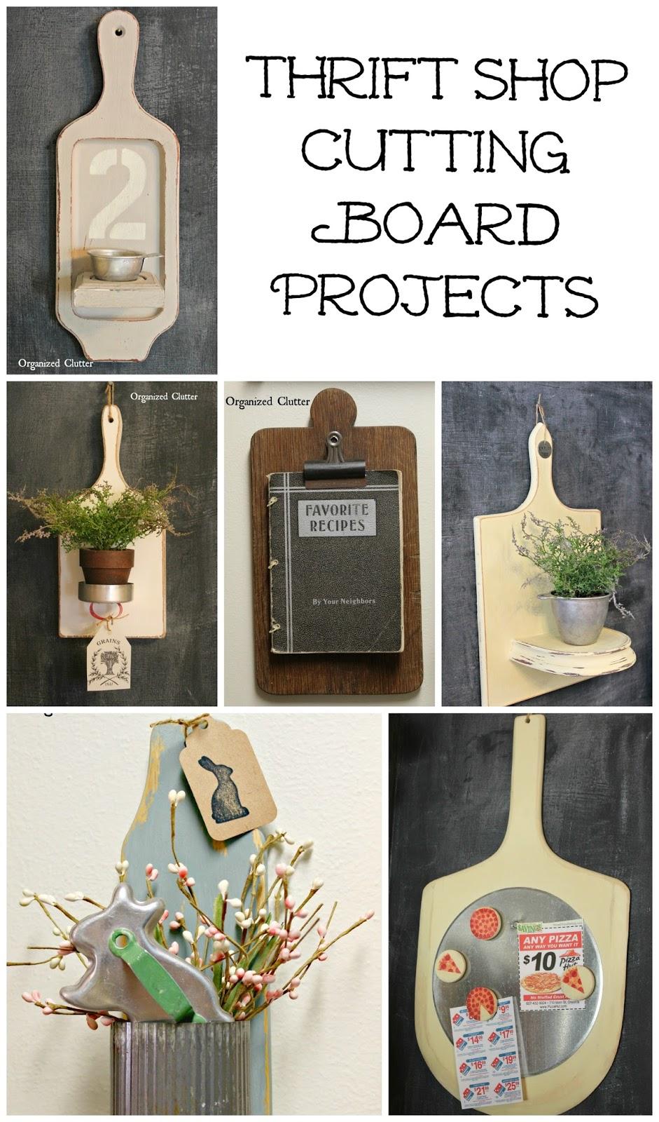 Cutting Board Makeovers www.organizedclutter.net