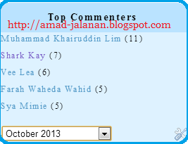 Top Commenters Bulan October Blog ANa Ahmad