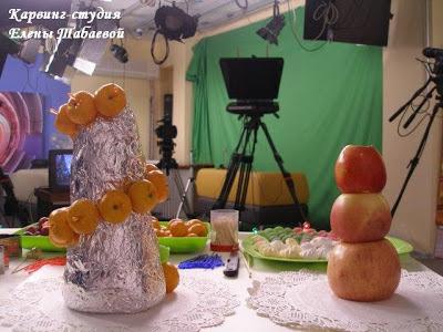 мастер-класс елочка из фруктов на канале аств