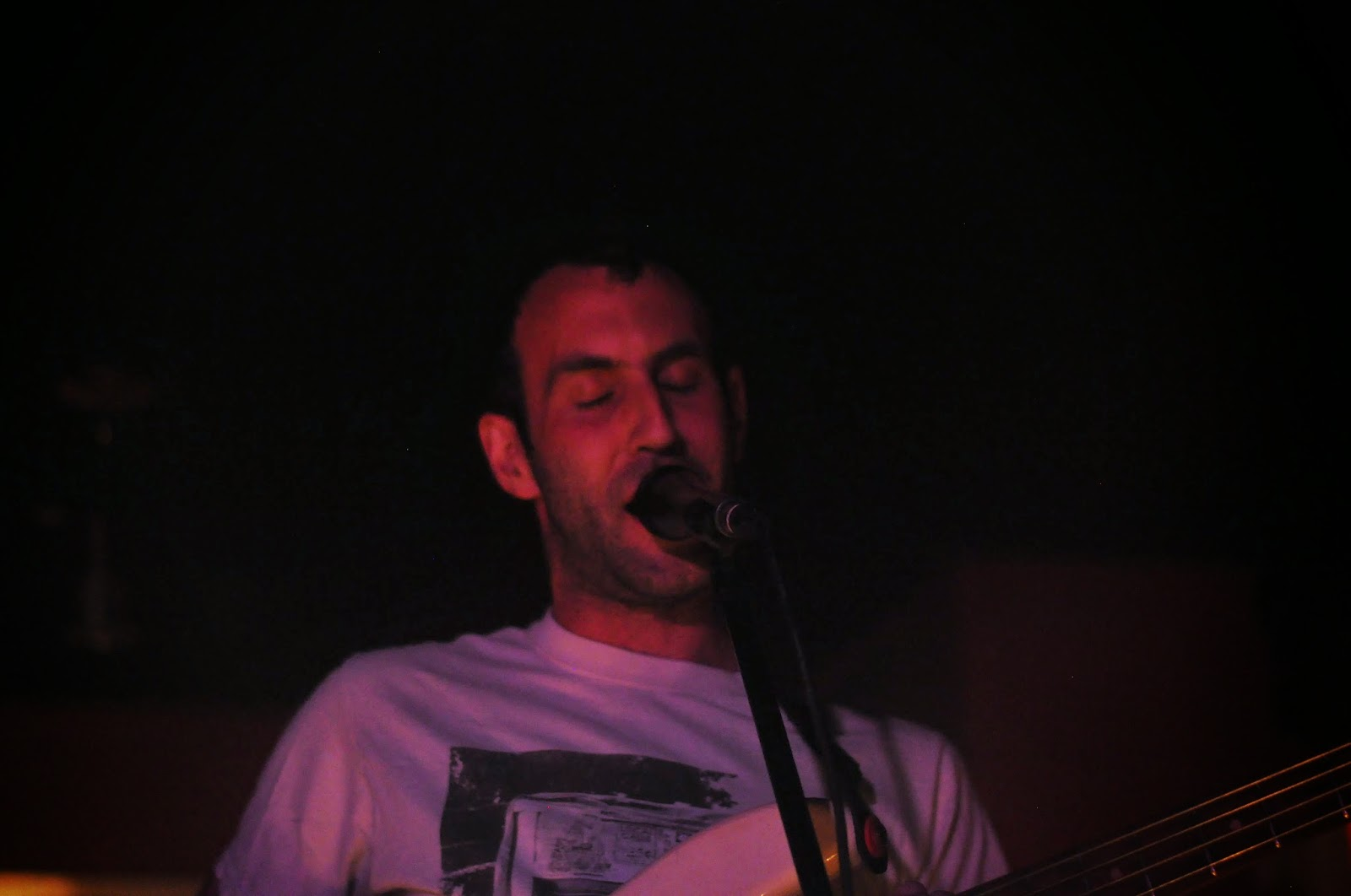 Singer and bassist Matthew Flegel of Viet Cong.