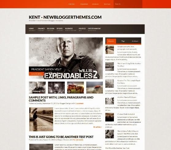 Kent Blogger Template