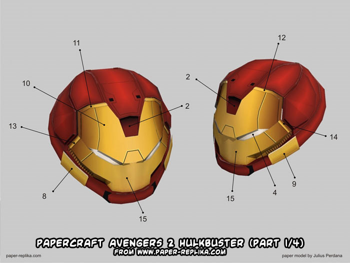 Part 1 of Paper-Replika's Hulkbuster; check back for parts 2-4!