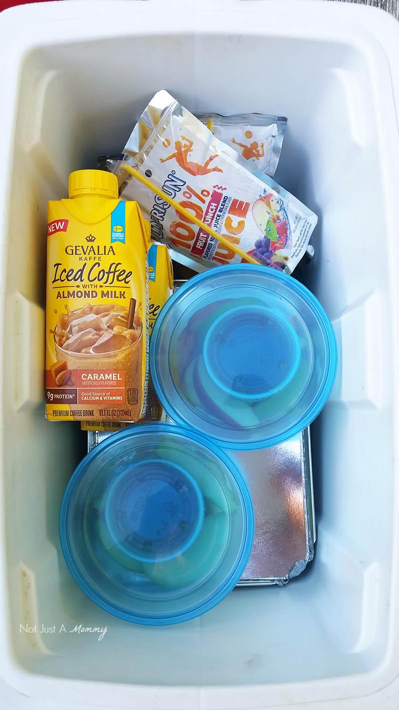 5 Road Trip Snack Hacks; snack cooler
