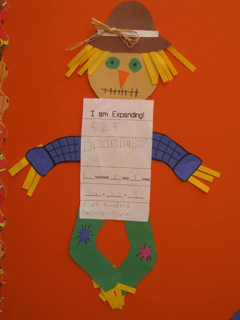 Smiling and Shining in Second Grade: Place Value Scarecrows and a Fall Freebie