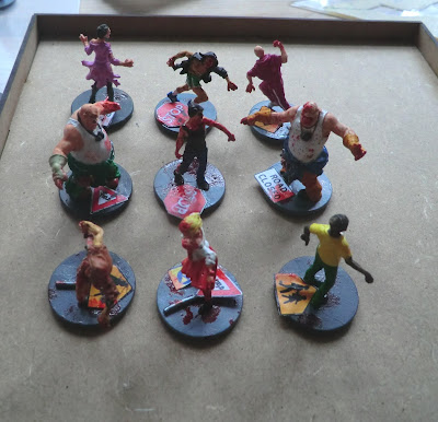 Zombies, Zombicide, bases, doing, painted