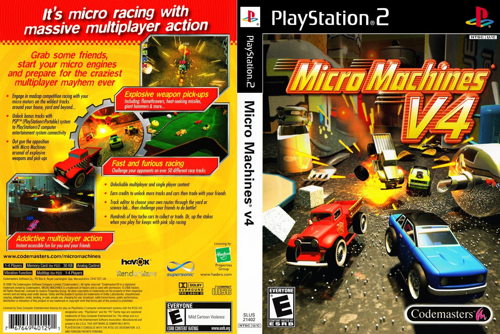capa micro machines v4 ps2 gamecover capas customizadas para dvd e bluray. Black Bedroom Furniture Sets. Home Design Ideas