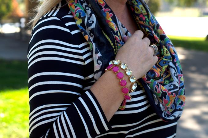 pink-bracelets-floral-scarf