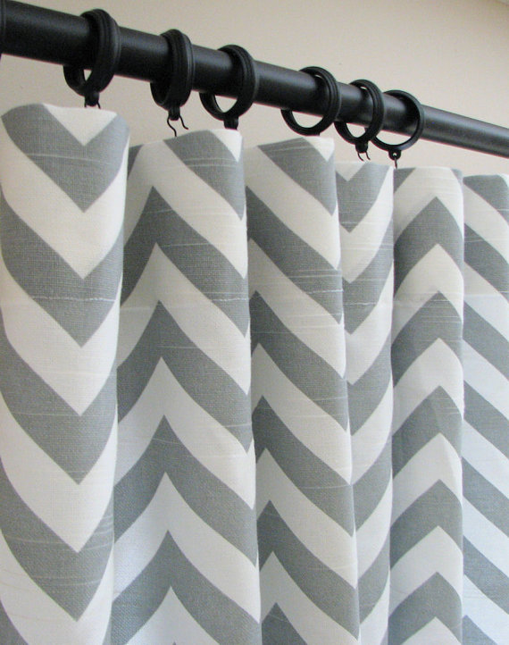 Julius Shower Curtain Collection Grey Chevron Curtains - Peregrinos.co