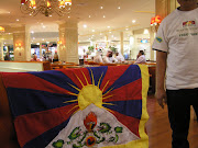 Arab Emirates: Tibetan flag in Abu Dhabi on Tibet Uprising Day 2011, .