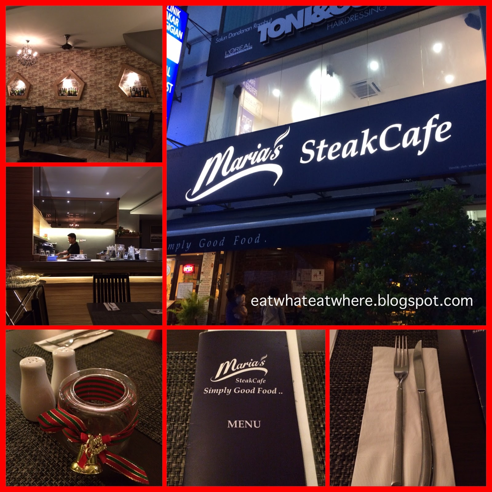 Maria S Steak Cafe Ipoh Menu