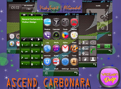 Ascend Carbonara Theme for Symbian S60v5
