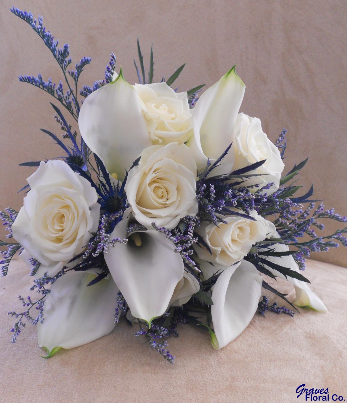 Graves Floral Co Wedding Navy Blue White Winter Wedding