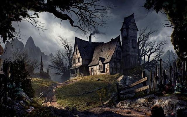 rumah menyeramkan di sebuah desa