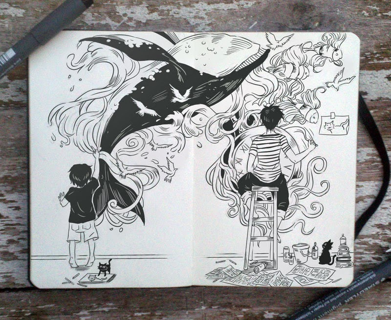 21-Never-give-up-on-drawing-Gabriel-Picolo-365-Days-of-Doodles-www-designstack-co