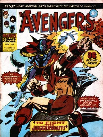 Marvel UK, The Avengers #83, Dr Strange vs the Juggernaut