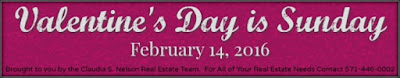 Valentine's Day 2016 is on a Sunday, February 14