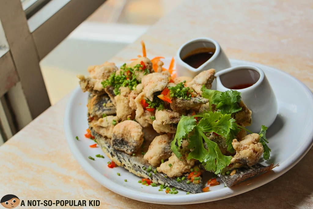 The best dish of the day - Crispy Fillet of Fried Tilapia of Just Thai