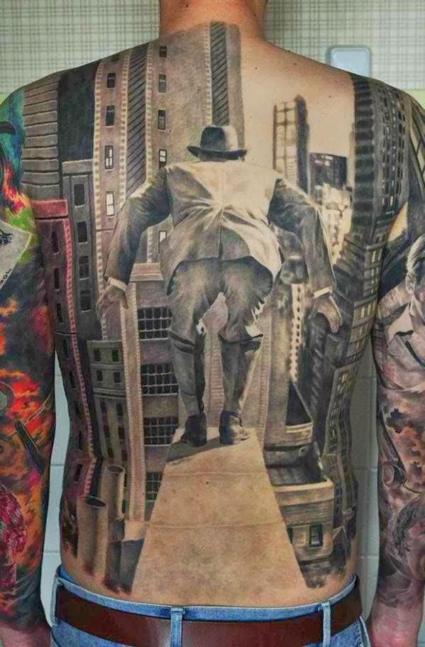 Back 3D tattoo by Den Yakovlev.