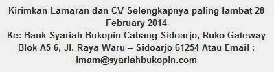 lowongan kerja sidoarjo jawa timur terbaru januari 2014