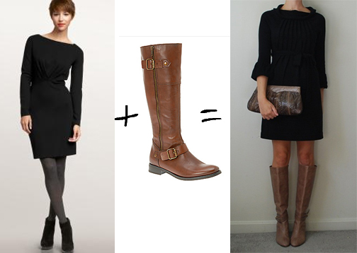 black dress brown boots style