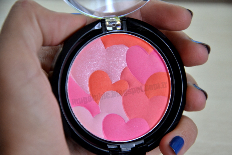 H&M Blusher w/ Pressed MulitColoured Hearts | H&M Allık - Çok Renkli Kalp Presli