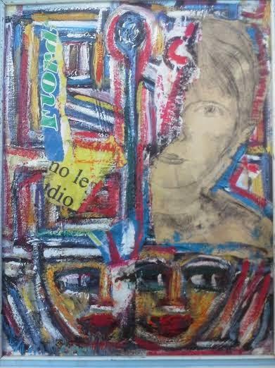 gabriella disegno  fatto da adolescente su collage