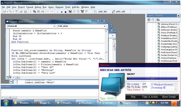 سورس كود مكافح الفيروسات العملاق  SMK ANTIVIR REV بالفجوال بيسك 6 Mini+scan+smk+antivir