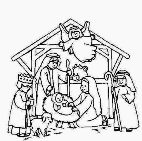 Nativity coloring sheet free coloring sheet for Nativity coloring pages to print