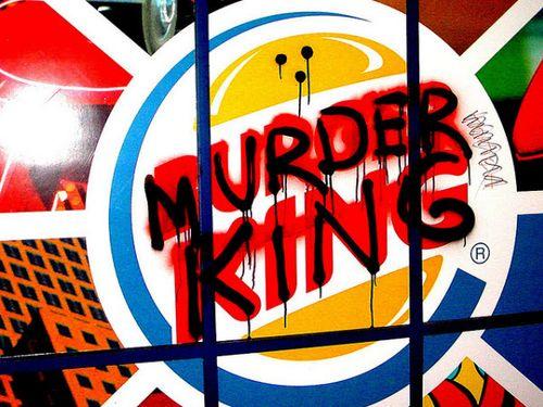 20 Logo Plesetan dari Perusahaan-Perusahaan Terkenal di Dunia: Burger King  - Murder King