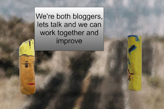 We're both Bloggers lets talk and we can work together and improve