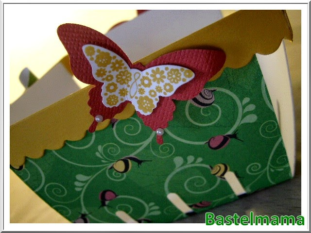 Stampin Up bigz L Form Körbchen. Schleifenstanze, Schmetterlingsstanzen, SU Stempel Papillon Potpourri