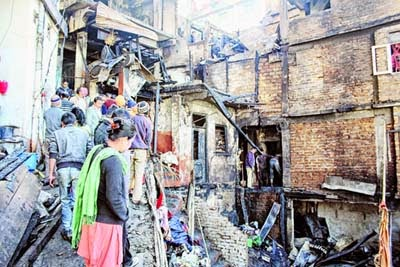Fire in Darjeeling town gutted Houses