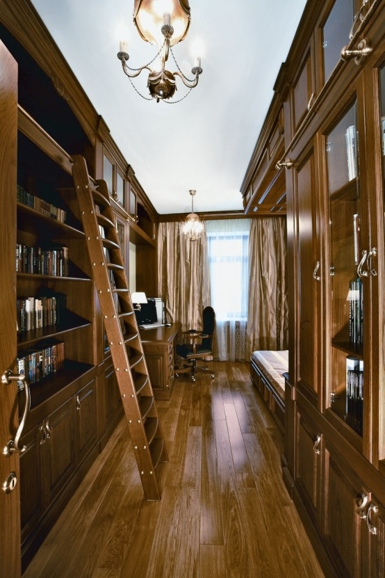 Deco tsam art nouveau by daria grigorieva for Only books design apartment 8