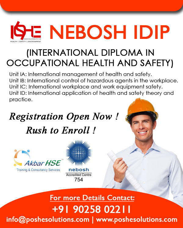 The NEBOSH International Diploma Is Divided Into Four Units Each Of Which Assessed Separately