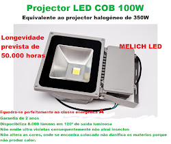 Projector LED 100W - 8.000 lúmens