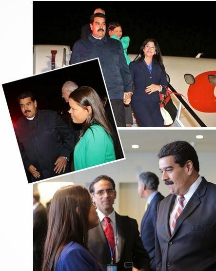 María Gabriela Chávez en la ONU - comitiva de Venezuela
