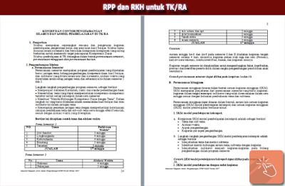 Download RPP dan RKH Untuk TK/RA