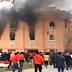 بالفيديو .. القفز من الدور الثالث للنجاه من حريق نادي الشرطة