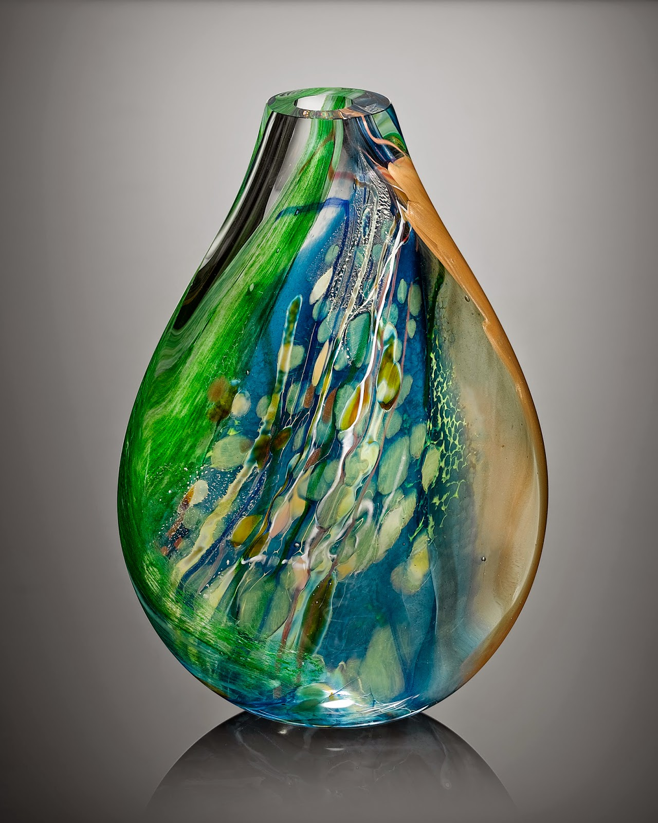 One of a kind contemporary sculptural art glass made in Vermont @Solinglass