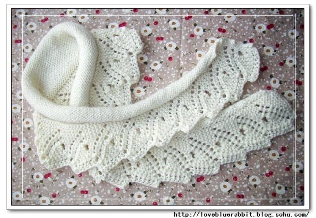 Bufandas tejidas a dos agujas, tricot
