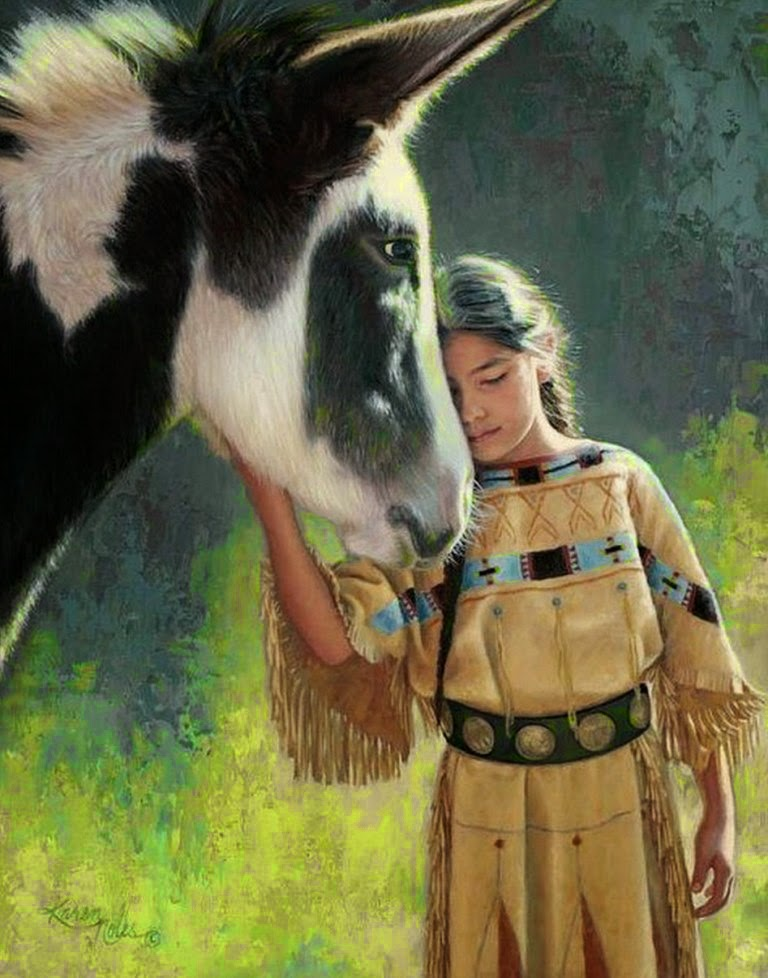 cuadros-al-oleo-de-retratos-de-niñas-indias